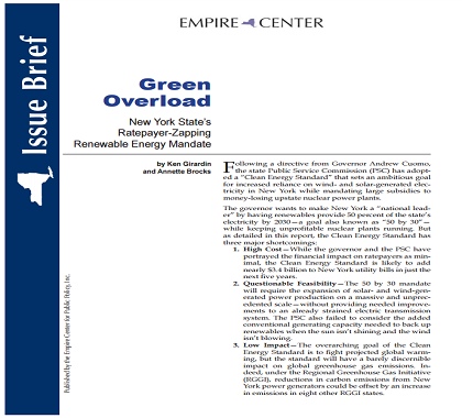 Publications - Green Overload: New York State's Ratepayer